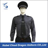 Dark grey duty shirt with badge national patrol security uniforms