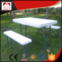 High quality 3 pcs assemble folding plastic assemble beer table and bench