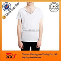 Customize men's v neck casual oem t shirt with button