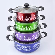 China manufacturer kitchen decorative stainless steel 10pcs Colorful Cookware Set