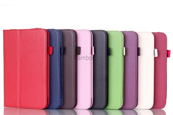 7 inch Tablet PC Book Cover Flip Leather Case for Lenovo A7-30 A3300 / A3500 /A5500 / S6000 / S5000/ B8000 /S8-50 / A7-10