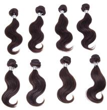 cheap human hair extensions natural black 8 - 10 inch body wave hair