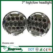 Most Popular 7 inch 75w High Low Beam Angel Eyes Jeep Headlight With H4 H13 Plug