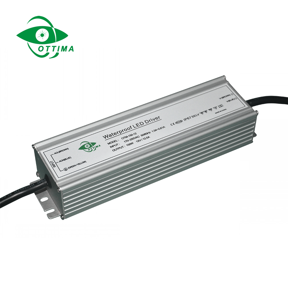 switching mode power supply 100w 150w 200w 12v 24v ip67 waterproof constant voltage led power supply