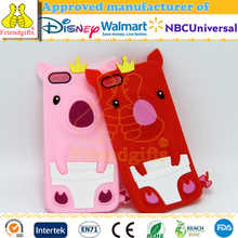 NOT TPU personalized soft feeling PIG silicone 3D cartoon phone case