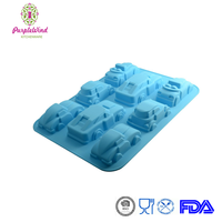 8Cav DIY Silicone Cars Cake Mold /Chocolate Pudding Baking pan