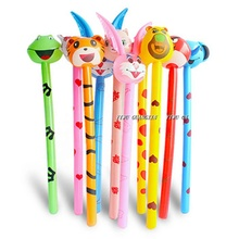 Hot sell pvc cheering inflatable animal stick kids toys horse stick for sale