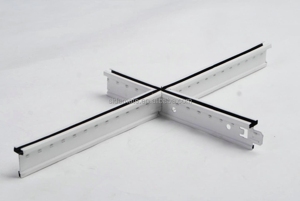 SILHOUETTE ceiling T GRID SYSTEM black line grooved tee bar grid