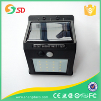 High lumen factory lowest price IP65 PIR outdoor 10pcs LED Wall Mounted Motion sensor solar LED street lights