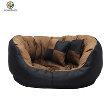 Plush & Suede Orthopedic Sofa Pet Bed for Dogs and Cats, Espresso