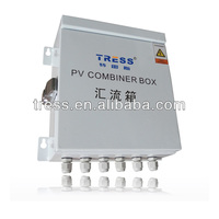 solar panel combiner box for array together