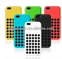 for apple iPhone 5C hole silicone case