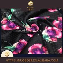 50%polyester50%cotton jacquard scuba air layer 3D floral printing fabric