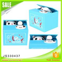 New gift item stealing money cat,plastic money box for kids