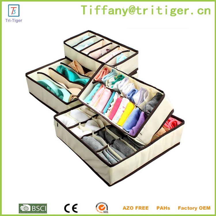 Ropa interior calcet n organizador de armario 4 unids organizador para la ropa interior cajas y - Organizador de ropa interior ...
