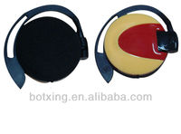 Brown ear hanging headphone 3.5mm earphones