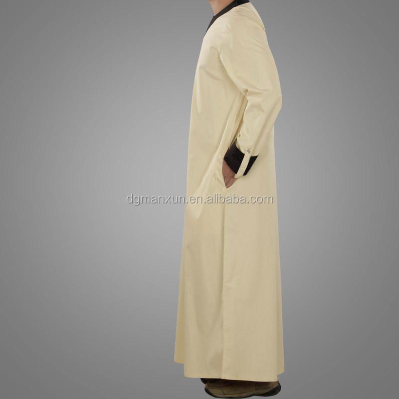 New Style Islamic Muslim Men  Daffah Thobe Simple Style Arabic Thobe (5).jpg