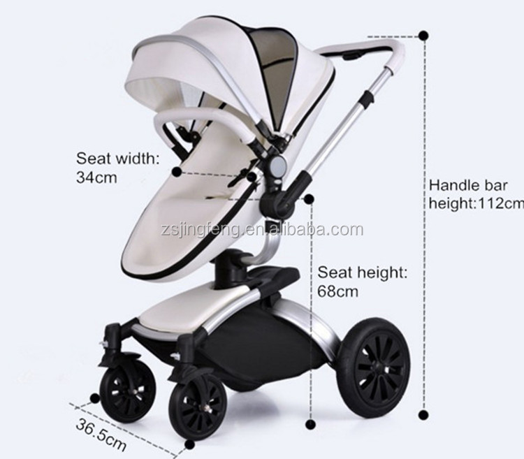 2018 New Baby Product High Quality Baby Pram Factory Price And Fashion Leather European Styles Baby Stroller 3 in 1