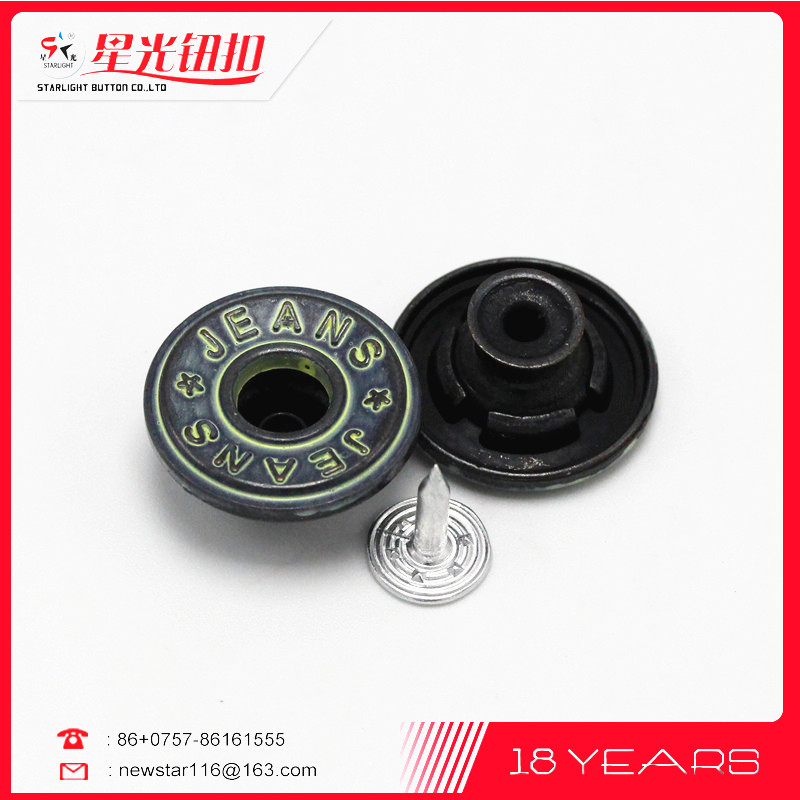 Eco-Friendly mini buttons for garments, Zinc Alloy Jeans Metal Button