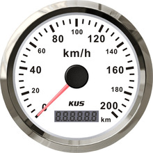 "KUS GPS Speedometer Odometer Gauge Meter 200KM/H For Car Motorcycle Trucks 3 3/8"" 12V 24V With Backlight"