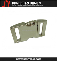 Jinyu metal quick release buckle for bag/custom logo side release metal buckle
