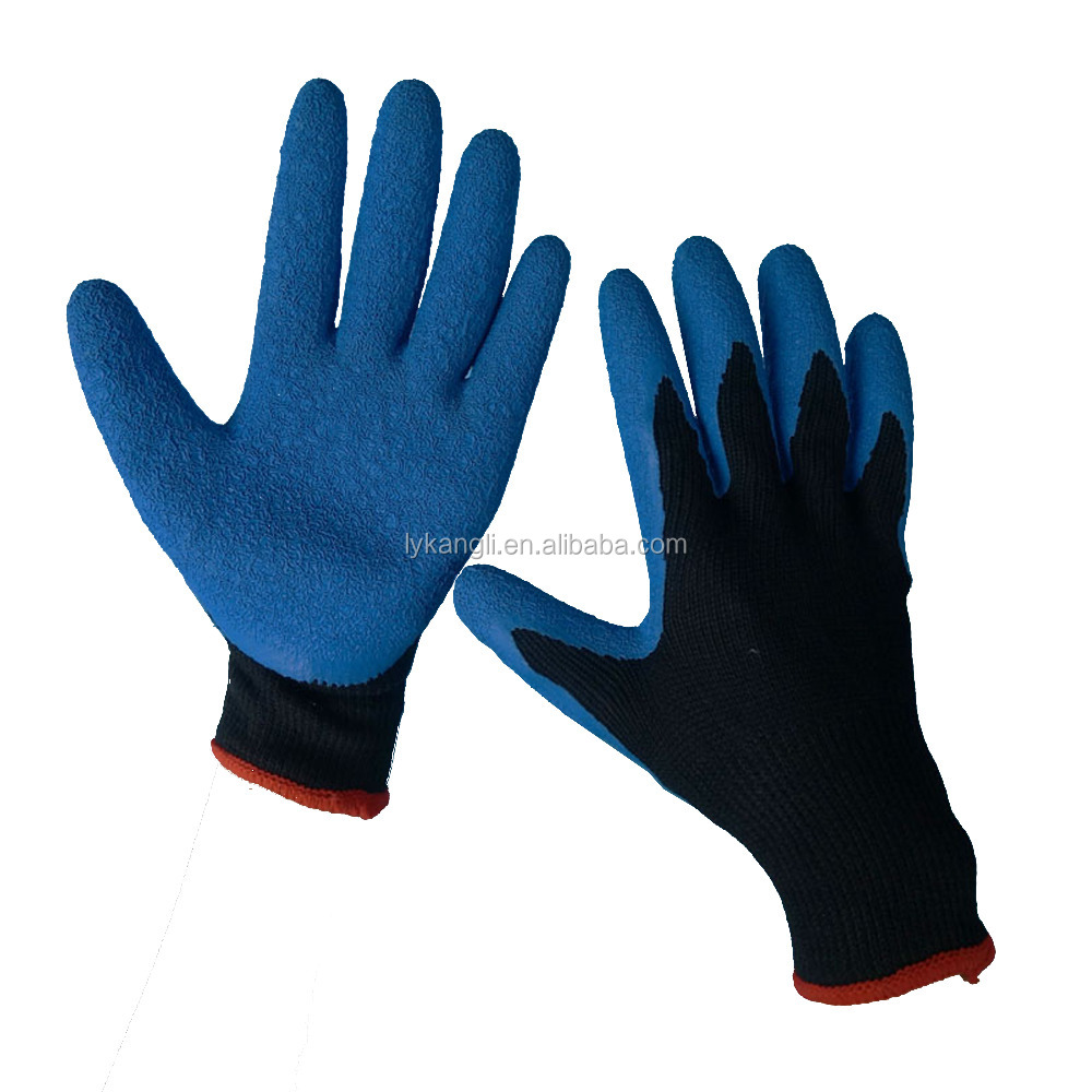 latex coating nylon working safety gloves for work