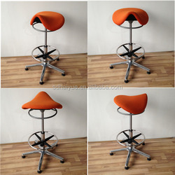 High Quality Crazy Sell New saddle leather Seat Bar Stools Foshan