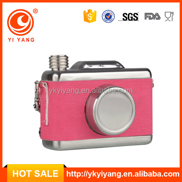new products design novelty sports camera hip flask liquor in dubai