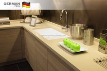 GermanPool Custom Design Practical Damp proof Particleboard Cooking Wood Modular kitchen cabinets
