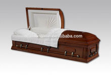 Nantong Millionaire competitive price solid poplar cheap casket and coffin