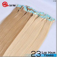 100% virgin brazilian hair skin weft pu glue virgin tape hair extensions invisible tape hair