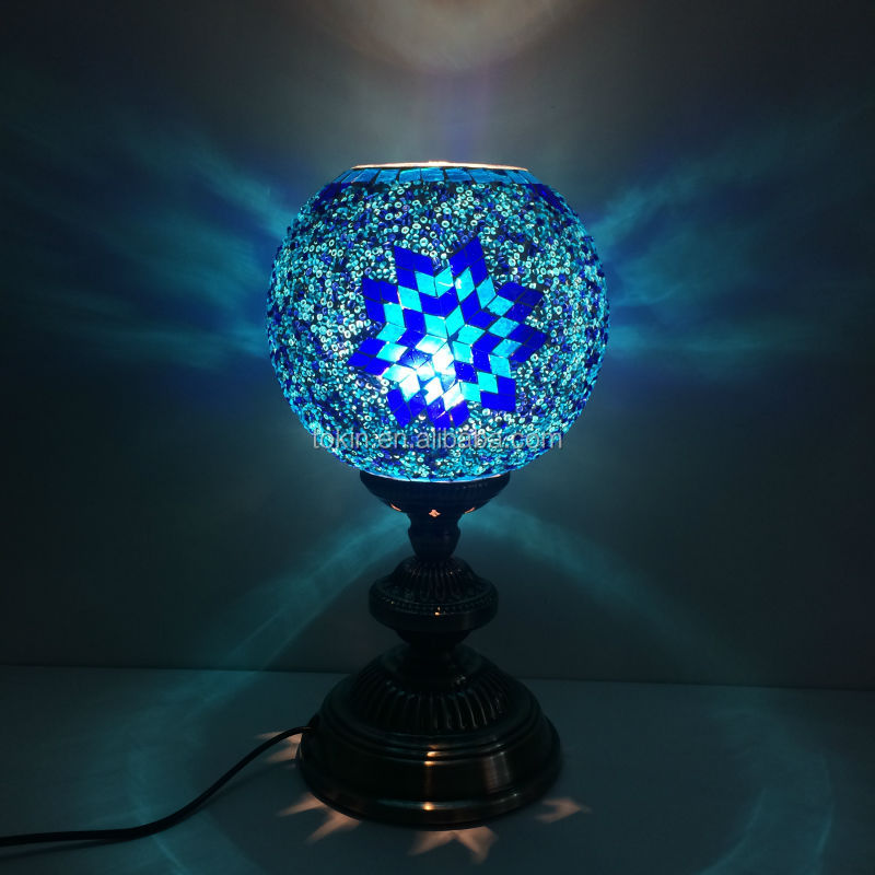 2015 New Design home decorative Made in China (TL1L08) glass material Handmade Mosaic Art Turkish table Lamps