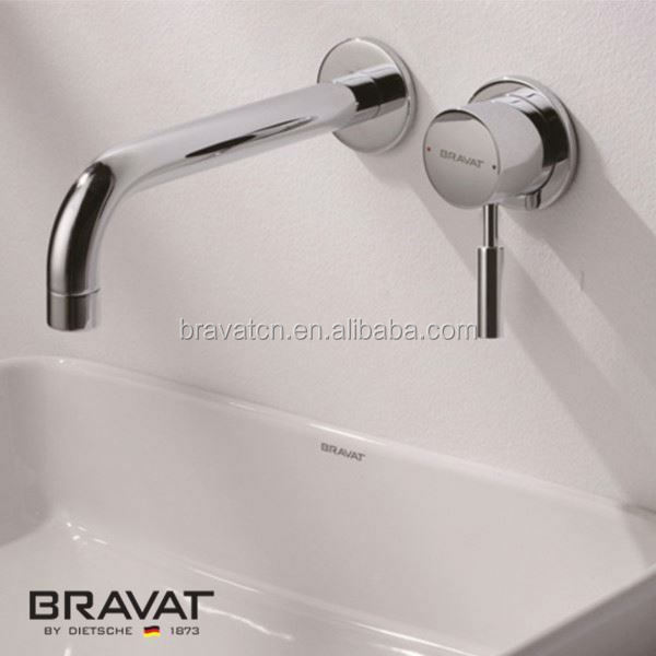 High quality copper polished brass waterfall sink mixer faucet F81251C-A