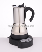 Stainless steel Electric Timer moka coffee maker JK40401-C(CAA)