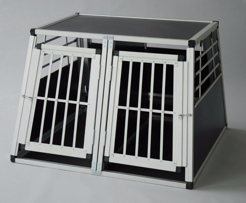 large folding aluminum car crate pet cage