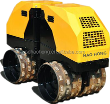 remote control double drum vibration roller Walk-behind double drums hydraulic vibratory roller