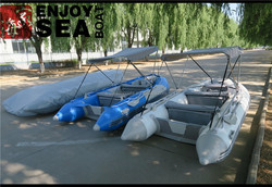 Top quality Durable PVC inflatable boat with t top for sale!