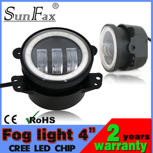 Newest!!! 4inch 30W Harley Jeep C REE led fog light with halo ring, Jeep fog light covers led headlight for harley motorcycle