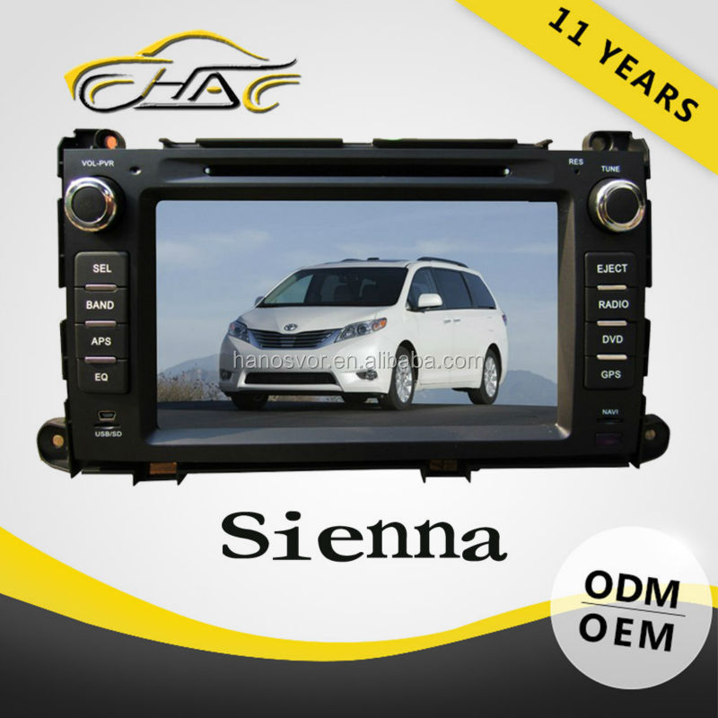 Car DVD player GPS Navigation with Radio bluetooth Auto radio for Toyota Sienna
