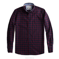 Wholesale shirt factory Custom flannel shirt cotton slim plaid shirt for men