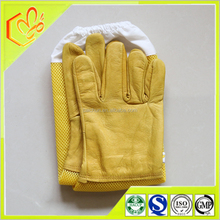 wholesale long sleeve yellow leather bee gloves beekeeper working gloves