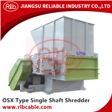 Single shaft shredder and shredding machine for plastic cable wood fridge