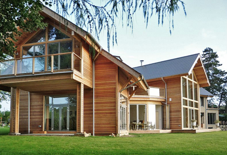Wooden timber frame prefabricated houses
