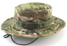 camo bucket hat custom military Combat Boonie Hat with wide brim
