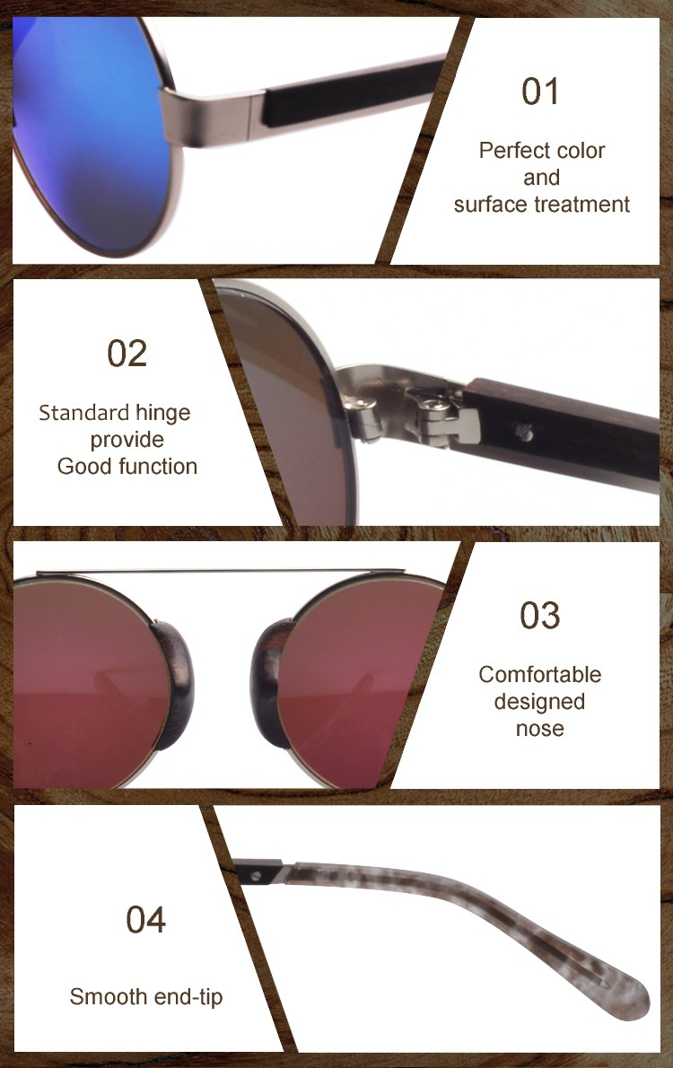 2017 Special Design Vintage Hybid Wooden Sunglasses(MW171)