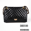 China hot sale metal chain handle diamond decorated suede shoulder bag