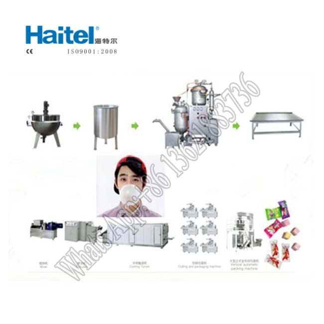 Full atomatic Bubble gum manufacturer / chewing gum processing machine
