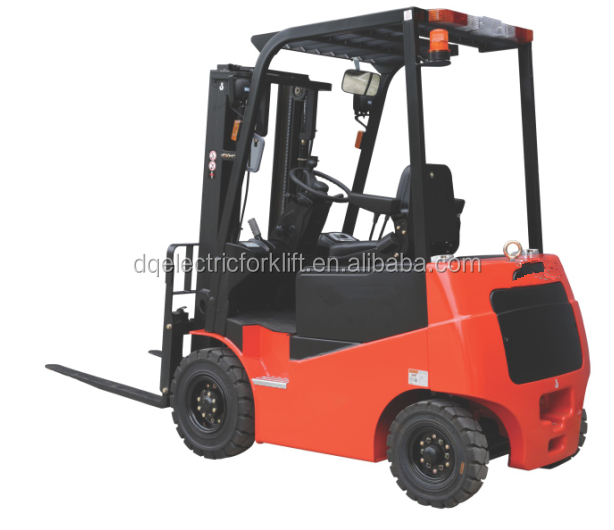 Four wheel battery electric warehouse forklift truck AC motor