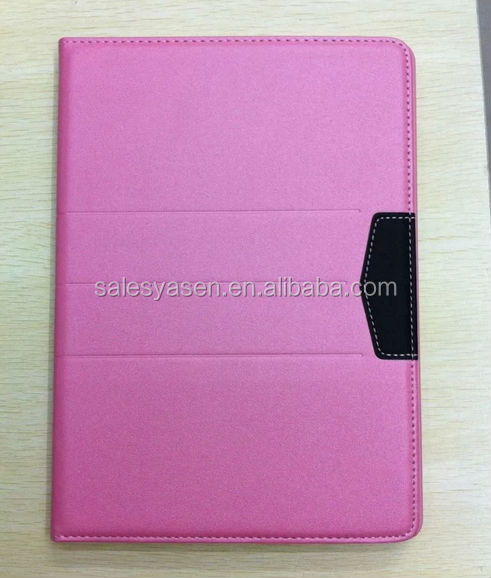 2014 new design golden beach colorful portable leather cover for ipad air