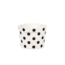 Hot Selling Exquisite Paper Muffin Cases Round Dots Cupcake Lines Cake Cups
